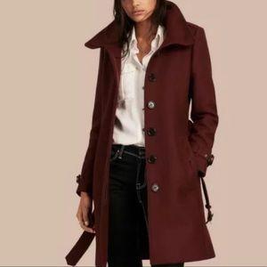 Burberry womens gibbsmoore funnel collar coat US12